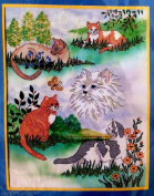 Cat Collage Picture Stamped Cross Stitch Kit #20293