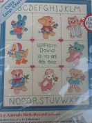 Tiny Animals Birth Record Counted Cross Stitch Kit 72139