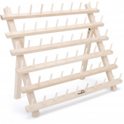 Thornton's Art Supply Mini Embroidery Wooden Spool Rack, Holds 60 Spools