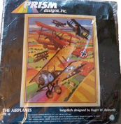 Prism Needlepoint Kit Longstitch The Aeroplanes Biplanes By Roger Reinardy #PR 14 1982