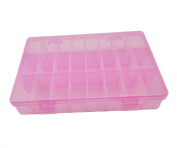 Famixyal Clear Plastic Jewellery Box Organiser Storage Container with Adjustable Dividers 24 Grids
