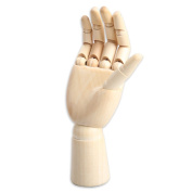 Yookat Wood Art Mannequin Hand Model - Perfect for Drawing, Sketch, etc.