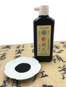 Hukaiwen Liquid Ink Grinded from Oil Soot Ink Stick for Japanese Chinese Traditional Sumi Calligraphy and Painting 250G