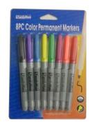 8pc Colour Permanent Markers