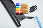 Glass Chalk - FACTORY SALE - WHAT UP Banner Kit - Black includes WHAT UP Markers in Red, Yellow, Green and Blue !