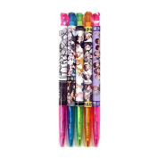 KPOP Boy Group Band Photo Ballpoint Pen Black Ink 5pcs 1 Set