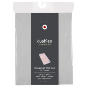 Kushies Baby Fitted Change Pad Sheet, Grey Solid