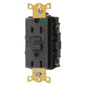 Hubbell GFRST83BK Gfci Receptacle, 20 Amps, Nema Configuration