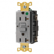 Hubbell GFRST83GY Gfci Receptacle, 20 Amps, Nema Configuration