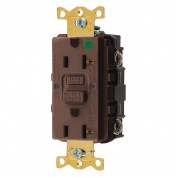 Hubbell GFRST83 Gfci Receptacle, 20 Amps, Nema Configuration