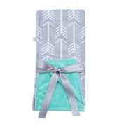 Towin Baby Arrow Minky Double Layer Receiving Blanket, Mint 30x30