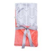 Towin Baby Arrow Minky Double Layer Receiving Blanket/Pet Dog Blanket, Coral 30x30