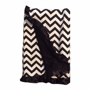BayB Brand Blanket - Black Chevron