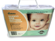 Waterproof Crib Mattress Pad Protector, Organic Super Soft Bamboo Quilted Cover