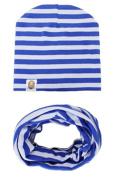 Unisex Baby Kids Stretch Striped Winter Hat Gloves Scarf Set Fashion Caps