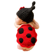 Happy Cherry Newborn Photo Props Outfits Crochet Cute Beetle Design Knitted Photography Props