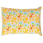 Froggie and Friends Children/Tenn 100% Cotton Pillowcase with Down Softness Pillow by Otes Owl