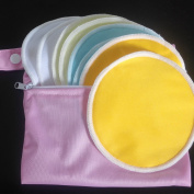 Washable Organic Bamboo Nursing Pads with bag + Natural Reusable leak-proof Nursing Pads