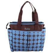 Aivtalk Baby Nappy Bag for Mom High Capacity Smart Design Compact Blue Big Polka Dot