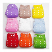 New 10pcs+10 INSERTS Adjustable Reusable Lot Baby Washable Cloth Nappy Nappies