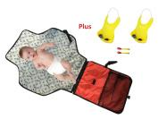 Premium Baby Nappy Change Pad Mat Bonus Twin Soft Baby Bibs Feeding Spoon Fork