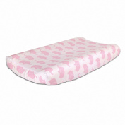 Pink Elephant Print Cotton Changing Pad Cover by The Peanut Shell