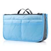 Yodosun Women Organiser Bag Multifunctional Travel Insert Handbag Purse Large liner Bag-in-bag Storage Box Blue