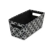 Fabric Quarter Storage Bin in Black