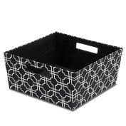 Fabric Half Storage Bin in Black