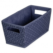 Blossom Fabric Quarter Storage Bin in Blue