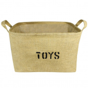 Lukher Jute Storage Basket Bin and Organiser with Handles for Baby Toys, Kids Toys, Baby Clothing