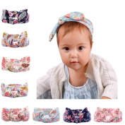 Great Deal 1 Pcs Newborn Baby Bohemia Rabbit Bowknot Floral Hair Band for Baby Photo Prop,Style 1