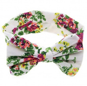 Max & Mix Baby Girls Headband Flowers Floral Big Bowknot Hairband Headwear Head Accessories White