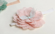 Zetti Baby Girls Headbands Lace Petal with Flower - Pink