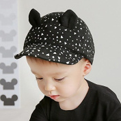Zetti Baseball Hat for Boy Girl Kid Toddler Infant Cap Sun Cartoon - Black