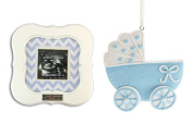 """Our Future"" Sonogram Frame and Baby Carriage Ornament"