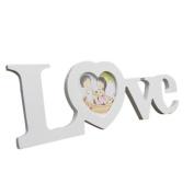 Photo Frames Saingace® Home Decor LOVE Designs Wedding Wooden Craft Cutout Monogram Frames