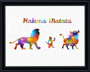 Aprilskys 11X14 Lion King Hakuna Matata Canvas Art Print Wall Decor Home Décor Room Deco Inspirational Wall Art Gift A347