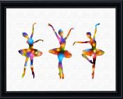 Aprilskys 11X14 BALLERINAS Canvas Art Print Wall Decor Home Décor Room Deco Inspirational Wall Art Gift A298