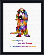 Aprilskys 11X14 Cute Puppy Dog Canvas Art Print Wall Decor Home Décor Room Deco Inspirational Wall Art Gift A339