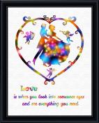 Aprilskys 11X14 Dancing Princess and Prince Canvas Art Print Wall Decor Home Décor Room Deco Inspirational Wall Art Gift A296