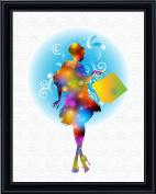 Aprilskys 11X14 Fashion Shopping Girl Canvas Art Print Wall Decor Home Décor Room Deco Inspirational Wall Art Gift A312