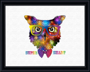 Aprilskys 11X14 Geek Owl Canvas Art Print Wall Decor Home Décor Room Deco Inspirational Wall Art Gift A320