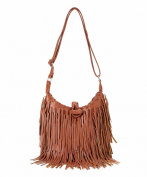 Pink Haley Fringe Cross Body, Chestnut