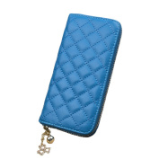 Aiklin Women's PU Leather Clutch Wallet With Diamond Texture Long Billfold