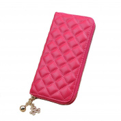 Aiklin Women's PU Leather Clutch Wallet With Diamond Texture Long Billfold