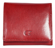 Women's Red Compact Sized Genuine Leather Wallet Giglio Fiorentino
