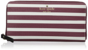 kate spade new york Fairmount Square Lacey Wallet, Merlot/Cream, One Size