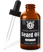 Henry Cavendish Beard Oil. Fragrance Free. With Organic Jojo, Sunflower, Shea and Argon Oils