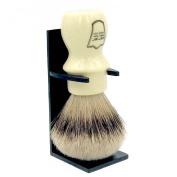 """Parker Safety Razor Handmade Deluxe """"Mug Shaving Brush"""" - 100% SILVERTIP BADGER BRISTLES -- Brush Stand Included ** BRAND NEW ITEM FOR SUMMER 2016 **"""